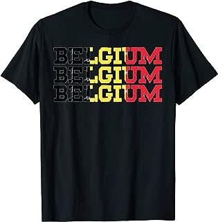 BELGIUM | Belgian Flag Sports Lovers T-Shirt