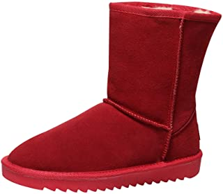 Shenn Chaussures d'hiver pour femme, chaudes, classiques–Daim Bottes de neige