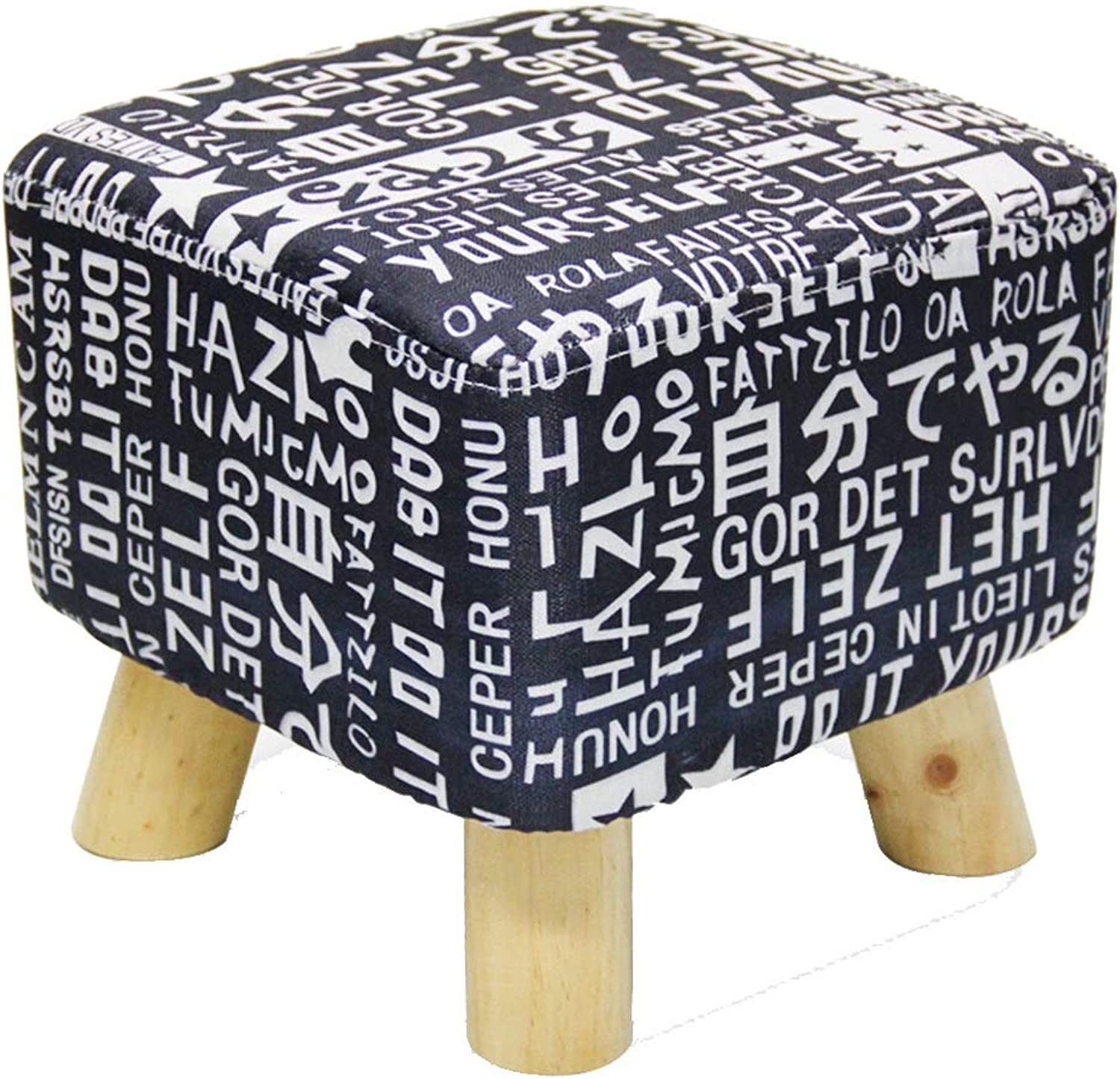 Small Stool-Fabric Washable Sofa Bench Square Pier Four Feet Solid Wood Stool Low Stool shoes Bench FENPING (color   C, Size   30  30cm)