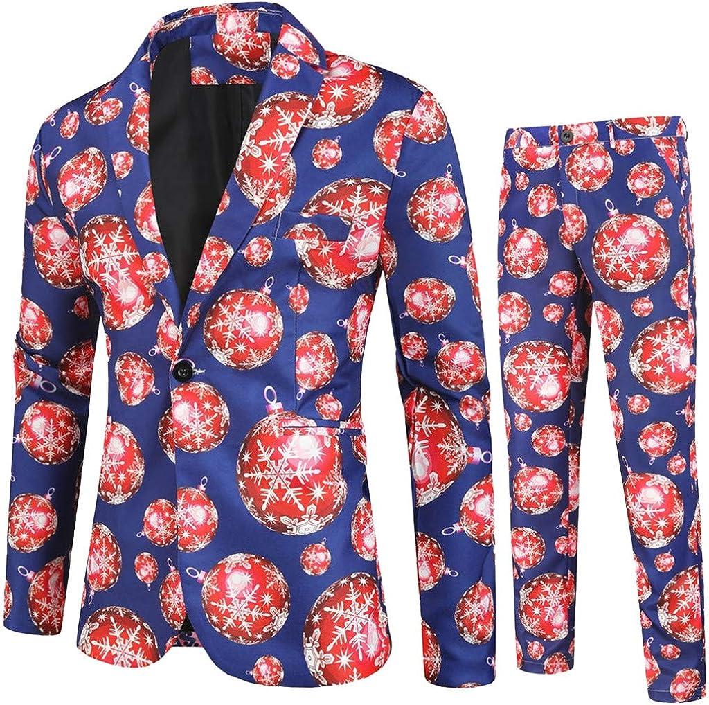Poundy Men's 3-Piece 194 Buttons Slim Fit Solid Color Jacket Smart Wedding Formal Suit