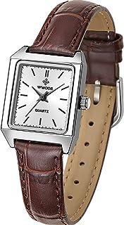 "Sponsored Ad - Women's Tank Shape Leather Strap Watch Rectangular Dress Analog Vintage""H"" Shape Quartz Wrist Watch"
