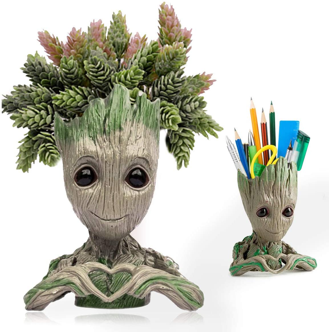 Groot Planter,Baby Groot Flower Pot Succulent Planter for Garden Decor Desktop,Groot Pencil Pen Holder for Kids Toy Gifts