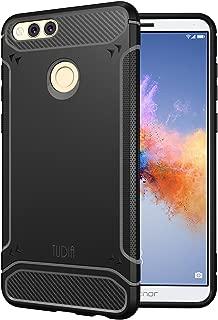 Honor 7X / Mate SE Case, TUDIA Carbon Fiber Design Lightweight [TAMM] TPU Bumper Shock Absorption Cover for Huawei Honor 7X / Mate SE (Black)
