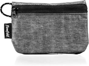 product image for Flowfold RFID Blocking Women's Coin Pouch Tiny Card Pouch, Zip Case (Heather Grey)