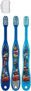 キャップ付き 3本セット 子供歯ブラシ 園児用 カーズ トイストーリー プラレール ディズニー ピクサー fo-shb02(カーズ)