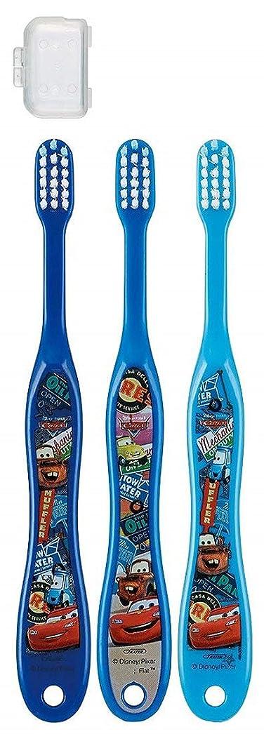 決めますシットコム個人キャップ付き 3本セット 子供歯ブラシ 園児用 カーズ トイストーリー プラレール ディズニー ピクサー fo-shb02(カーズ)