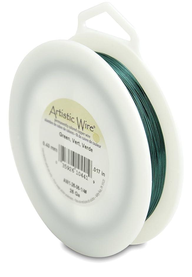 Artistic Wire 26-Gauge Green Wire, 1/4-Pound