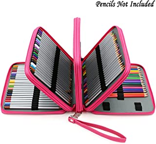 BTSKY160 Slots Colored Pencil Case- Deluxe PU Leather Handy Pencil Holder Organizer..