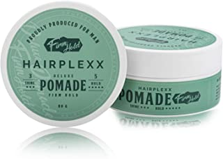 Hair Pomade - Hairplexx Firm Hold Sculpting Paste for Men's Hair - Water Based with High Shine Finish - Paraben Free, 80g...