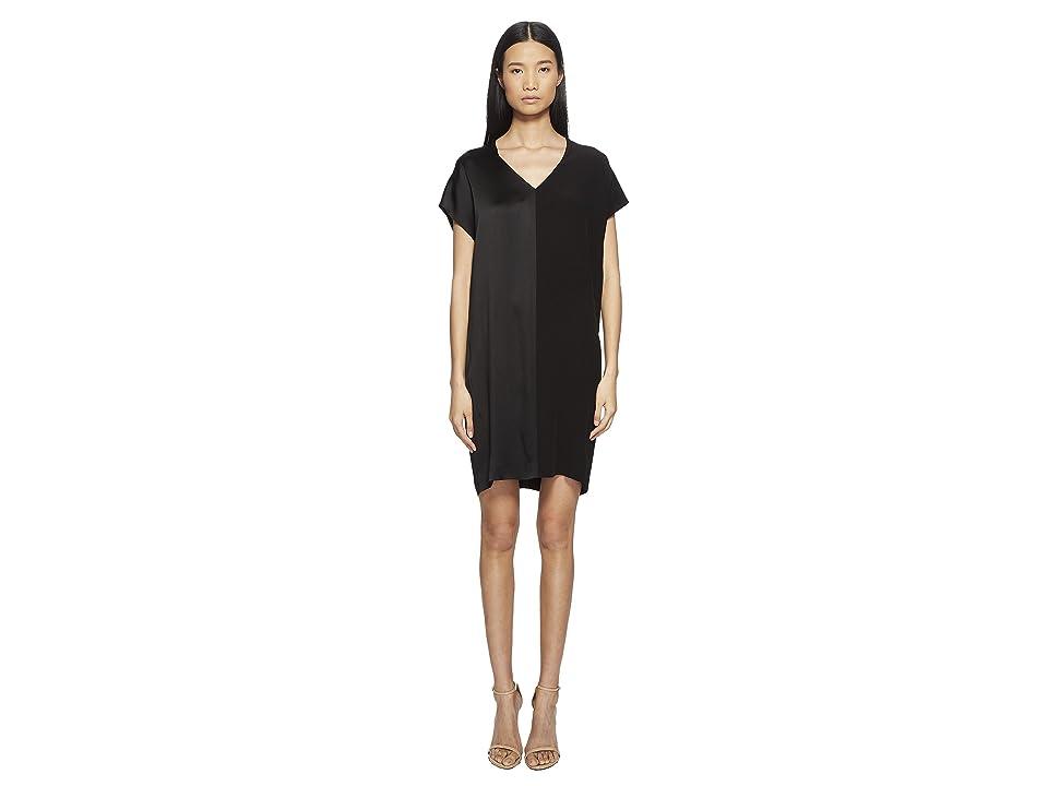 ESCADA Daflor V Cap Sleeve Dress (Black) Women