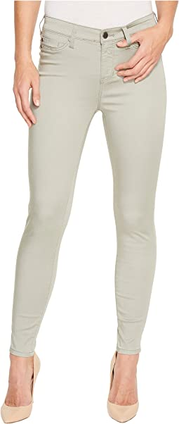 Madonna Ankle Skinny Pants in Micro-Peached Twill in Faded Seagrass