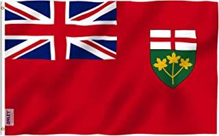 Anley Fly Breeze 3x5 Foot Ontario Flag - Vivid Color and Fade Proof - Canadian Province of Ontario Flags with Brass Gromme...