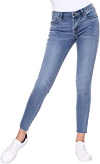 Womens Mid-Rise Stretch Comfy Classic Ankle Denim Skinny Jeans Plus Size