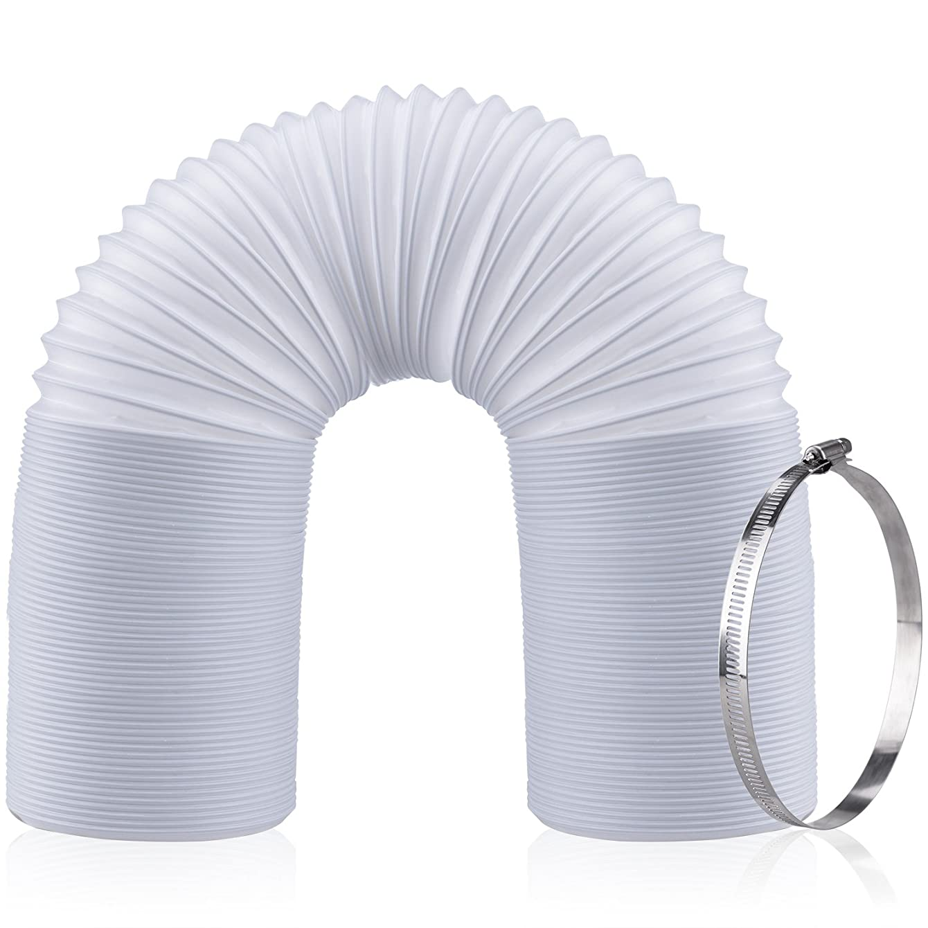 Aboat 5 Inch Diameter Portable Air Conditioner Exhaust Hose (59 Inch Length) with Stainless Steel Tension Clamp