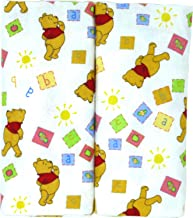 """Disney Winnie The Pooh Receiving Blankets. Two Pack of Varied Prints and Styles. Boy 30"""" x 30"""" …"""