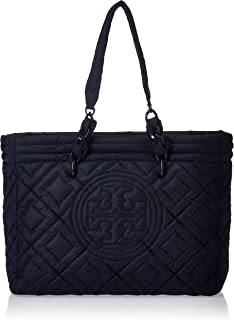 Tory Burch Womens Fleming Quilted Nylon Small Tote Tote Bag