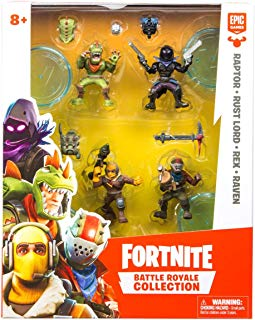 Fortnite Battle Royale Collection: Squad Pack – Raptor, Rust Lord, Rex & Raven Mini Action Figures