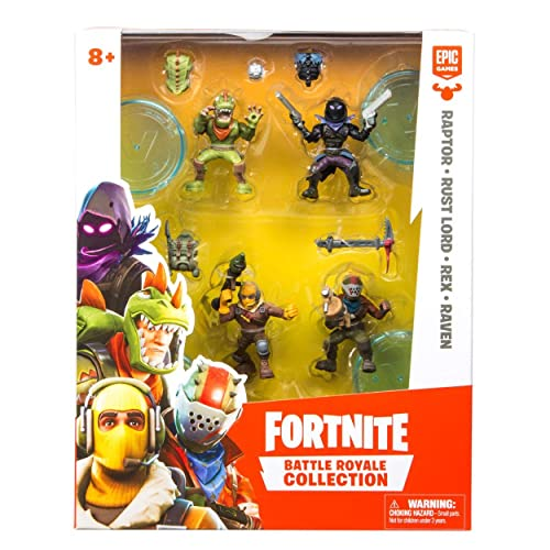 fortnite battle royale collection 4 action figure squad pack - fortnite sr