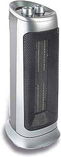 HB CTH2002D Calefactor Cerámico, 2000 W, Polímero termoresistente, 2 Velocidades, Plateado