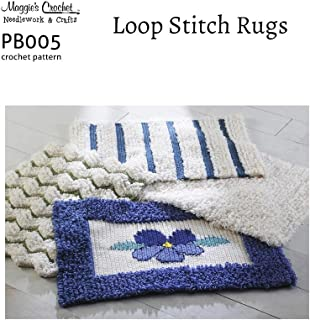 Crochet Pattern Loop Stitch Rugs PB005-R