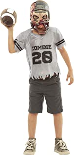 Scary Football Zombie Halloween Costume for Kids - Mask, Jersey, Shoulder Pads