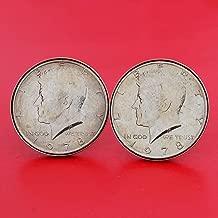 1978 coin cufflinks