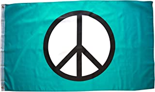 High Supply 3x5 Foot Peace Flag with Double Stitched Edges, 100% Polyester Fabric, and Two Brass Grommets, Peace Sign Flag 3x5 Hippie Flag Peace Symbol Flag
