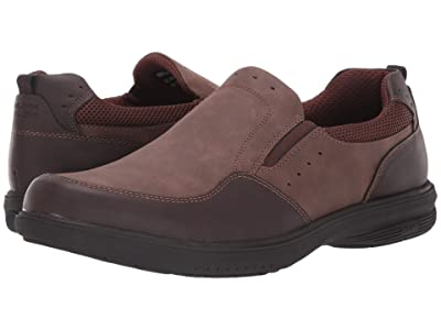 Nunn Bush Kore Walk Slip-On (Dark Brown) Men