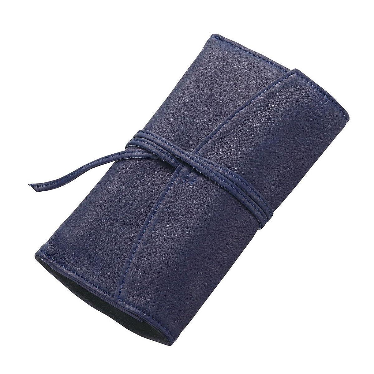 枠崇拝します想定するペンサンブル ロールファスナー ペンケース 3本差 ブルー PSRF3-01-L