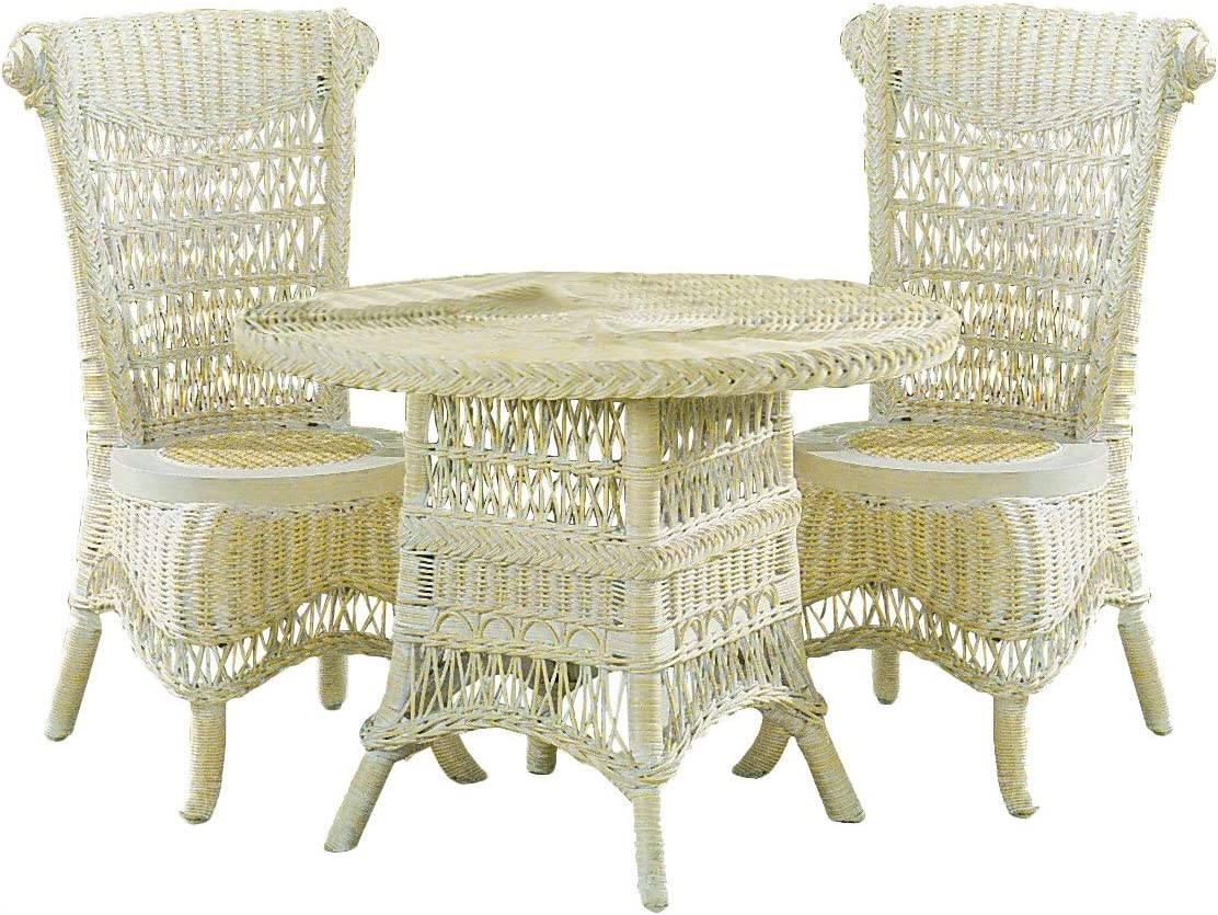 Spice Islands Classic Child's Tea Set (1 Table & 2 Chairs), Whitewash