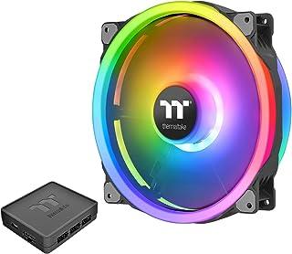 Thermaltake Riing Trio 200mm 1680万RGB カラー(アレキサ、レーザクロマ)ソフトウェア対応 3ライトリング 60 アドレス可能 LED 11ブレード 油圧ベアリングケース/ラジエーターファン シングルパック C...