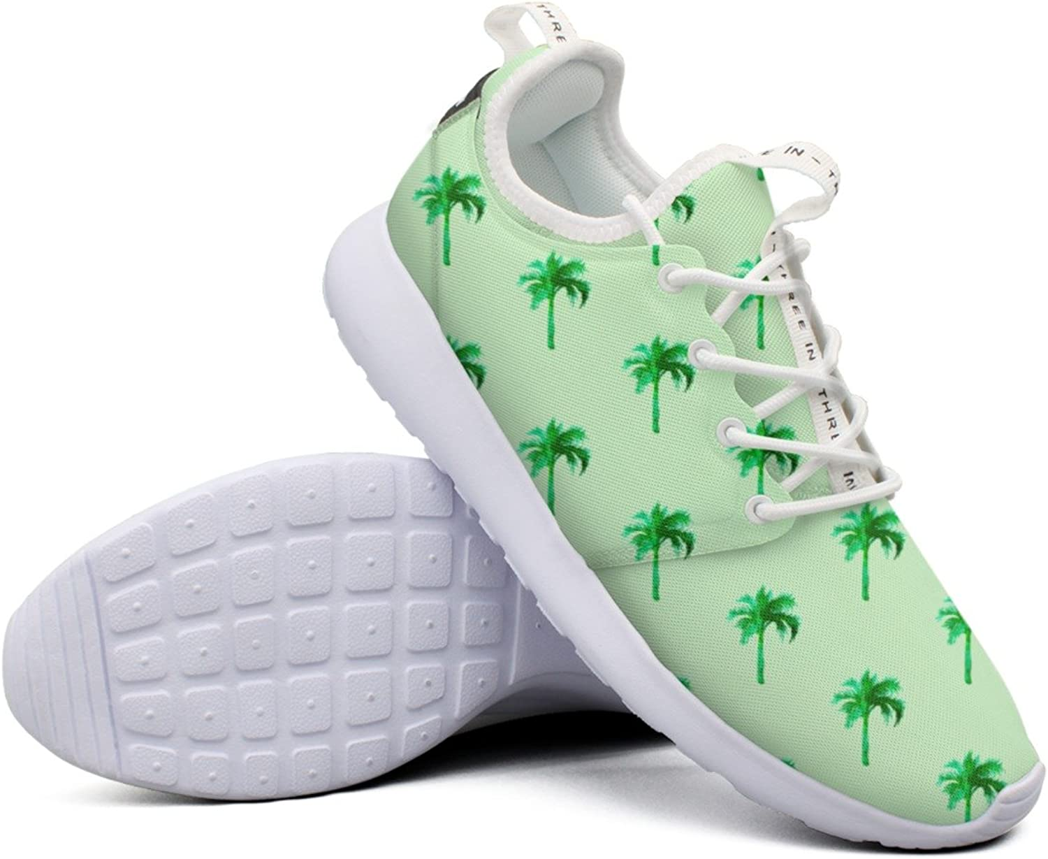 Womens Tropical Palm Tree Pattern colorful Camping Navy Fashion Running shoes