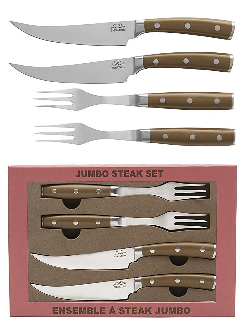 La Cote Signature Series Knife Set High Carbon German Steel ABS Handle (Steak Knives & Fork Set)