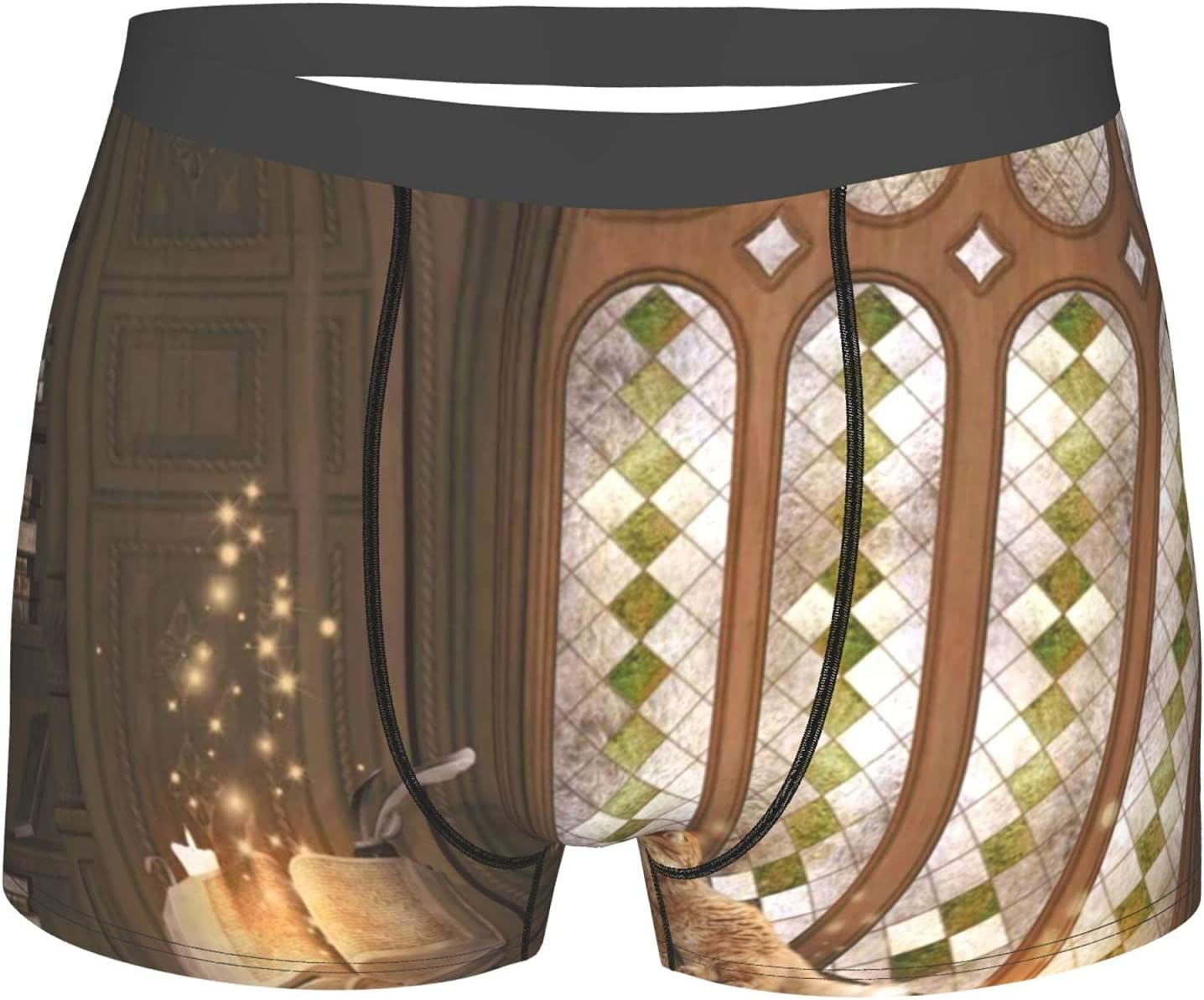 YAZXHJAZ Underwear Mens Boxer Al sold out. Briefs with Sacramento Mall Gothic C Study Library