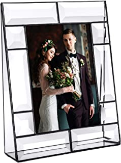 Clear Glass Picture Frame 5x7 Photo Display Desk Accessories Tabletop Home Décor Family Wedding Anniversary Engagement Graduation Gift J Devlin Pic 112 Series