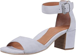 by Kenneth Cole Women's Christa Mid-Heel Sandal with Ankle Strap Sandal, winter blue, 8 M US