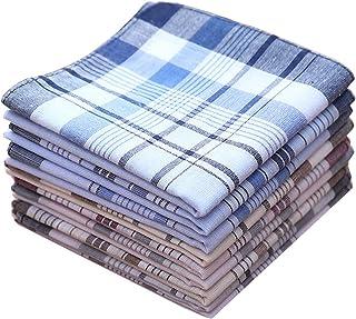 La Closure Mens Classic Color Strips Cotton Handkerchiefs Pack