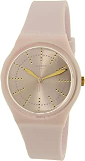 Swatch GP148 Unisex Archi-Mix Guimauve Pink Dial Pink Silicone Strap Watch