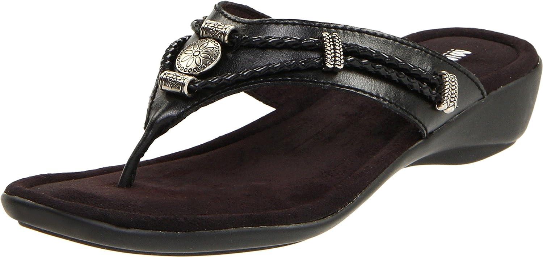 Minnetonka Women's Silgreenhorne Thong Sandal