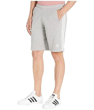 adidas Originals 3-Stripes Shorts (Medium Grey Heather) Men