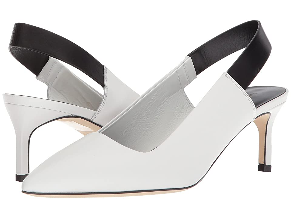 Via Spiga Blake (Porcelain/Black Strap Leather) High Heels