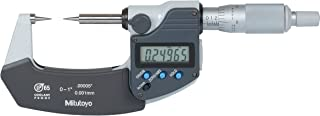 Mitutoyo 342-351 Digimatic Point Micrometer, Inch/Metric, Ratchet Stop, 15 Deg. Carbide Points, 0-1
