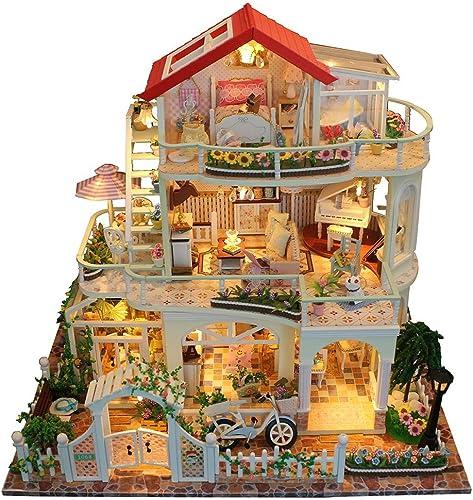 Tienda de moda y compras online. Oddity DIY Kit de casa de de de muñecas en miniatura hecho a mano para construir modelo de juguetes Mini casa de muñecas sin cubierta a prueba de polvo creativo romántico regalo de San Valentín  artículos de promoción