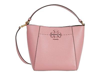 Tory Burch McGraw Small Bucket Bag (Pink Magnolia) Handbags