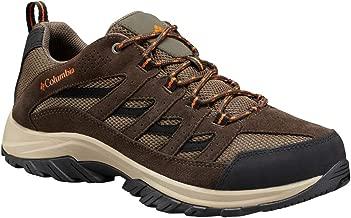 Columbia Men's Crestwood Hiking Shoe, Camo Brown, Heatwave, 7 Wide US