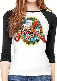 45c640c590629 Steve Miller Band Woman s 3 4 Sleeve Round Neck Baseball T-Shirt Women