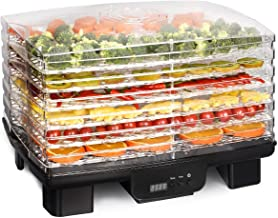 Costzon Electric Food Dehydrator, 550W Fruit Preserver Machine with 6 Drying Trays, Professional Digital Temperature and Timer Control with Auto-Off Function, Beef Jerky, Dried Fruits, Vegetables& Nut