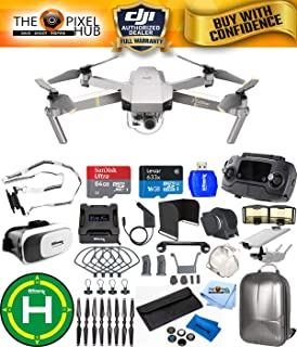 DJI Mavic Pro Platinum Edition Pro Accessory Bundle with Backpack, 7 Piece Filter Kit, Vest Strap, Landing Pad Plus Much More (1 Battery Total)