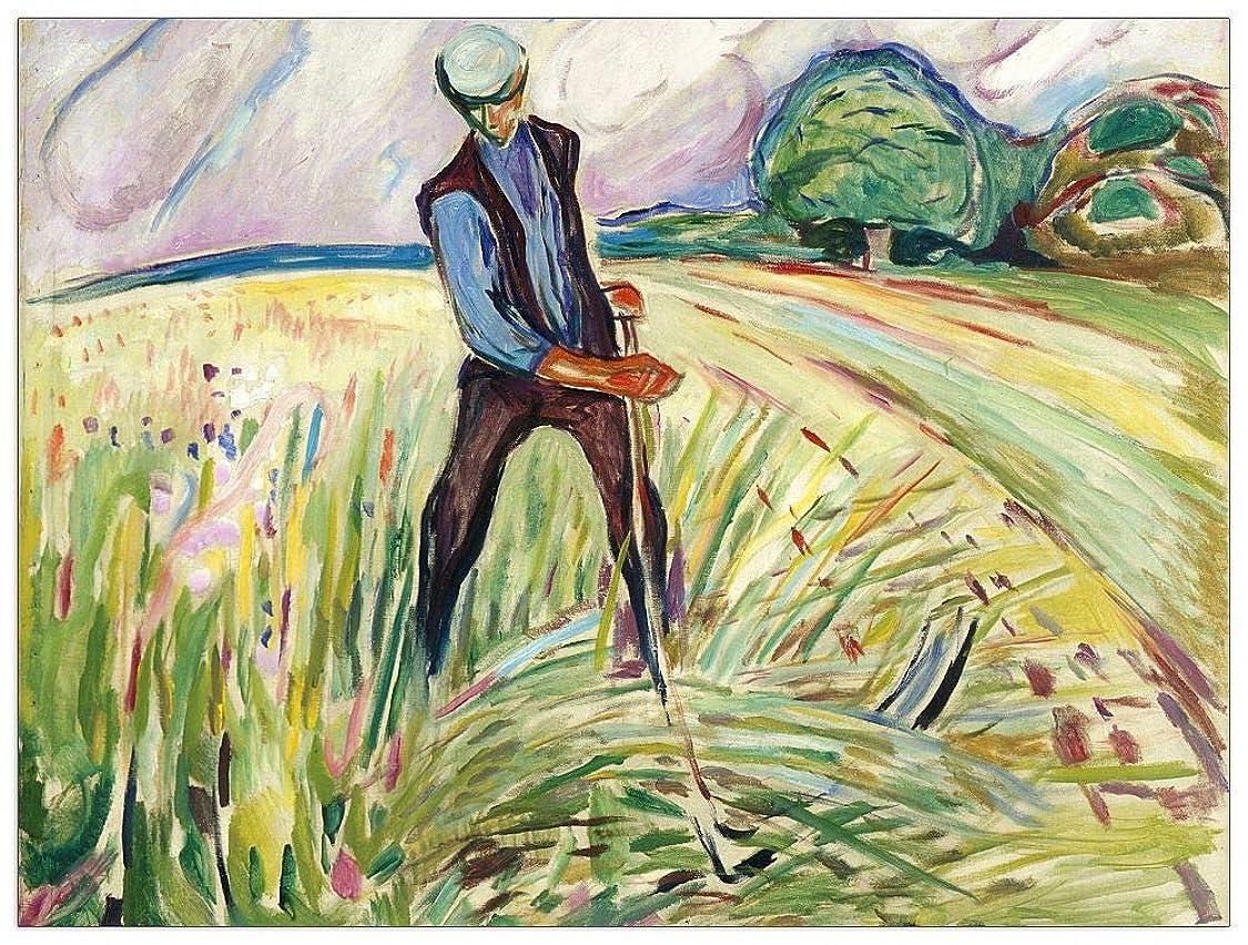 ArtPlaza TW92308 Munch Edvard - The Haymaker Decorative Panel 35.5x27.5 Inch Multicolored lw03033687221831