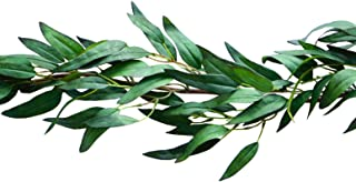 Bergh Floral Greenery Garland Artificial Eucalyptus Faux Plant Vine | Wedding Home Decor 4.2 ft